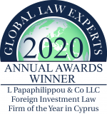 2020 GLE ANNUAL AWARDS WINNERS - L Papaphilippou & Co LLC - Foreign Inve... - Copy